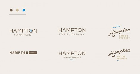 Hampton Station Precinct Branding short motion graphic video.